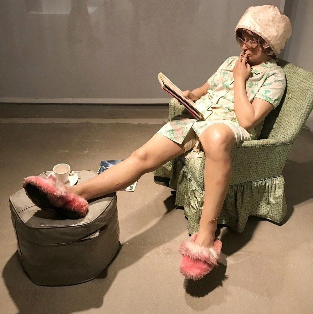 """Housewife"" (1969-1970) by Duane Hanson."