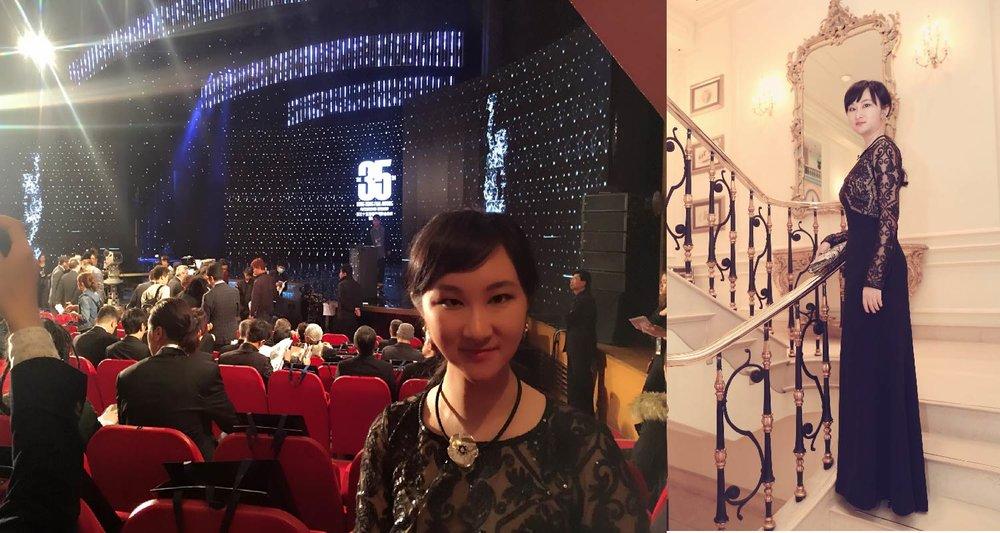 AmeriChina创始人于香港金像奖颁奖典礼现场 / AmeriChina创始人于半岛酒店