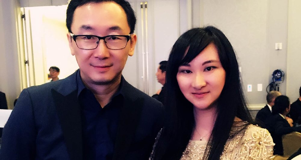 Founder of AmeriChina with director Lu Chuan