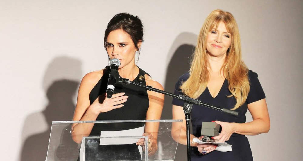 Victoria Beckham giving her speech for winning the 2015 Fashion Development Award