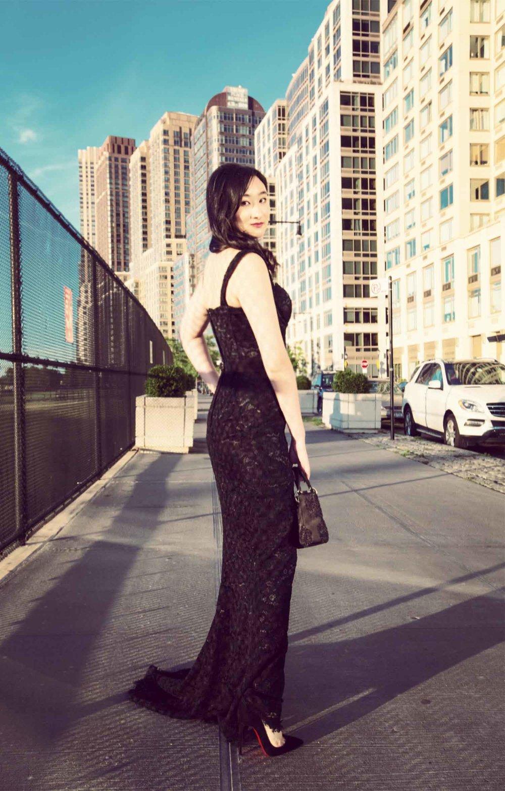 穿着Dolce&Gabbana的杨静竹
