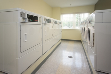 On site laundry facilities