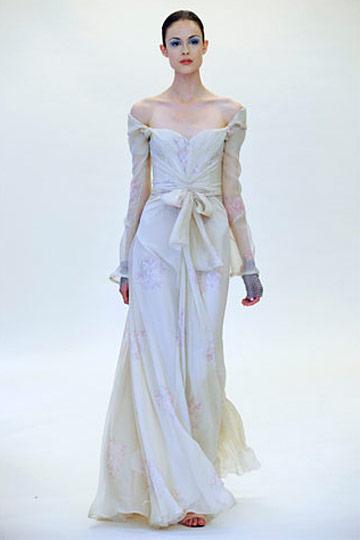 Zac Posen chiffon drapering kjole