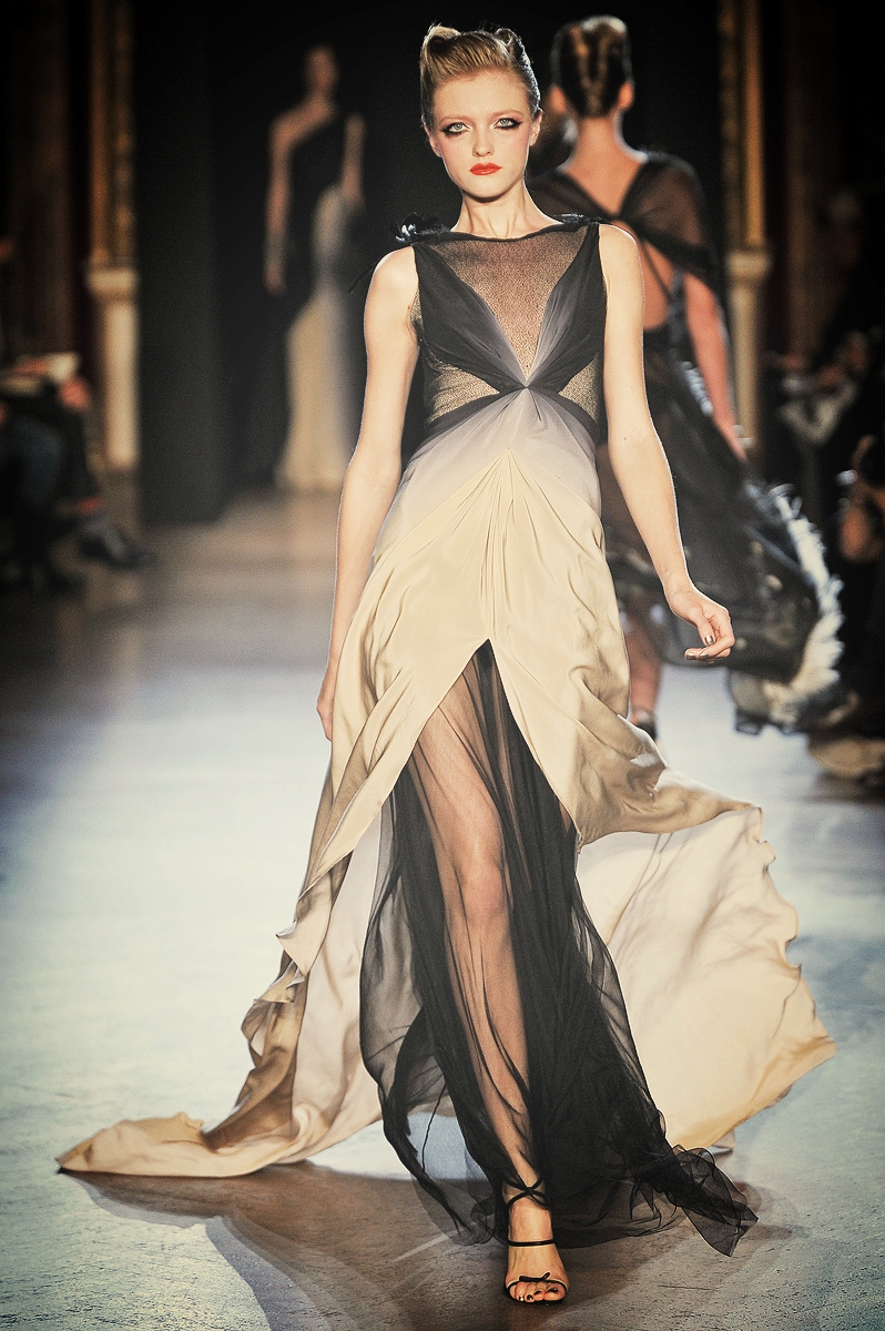 Zac Posen skræddersyet Chiffon draperede kjole.jpg