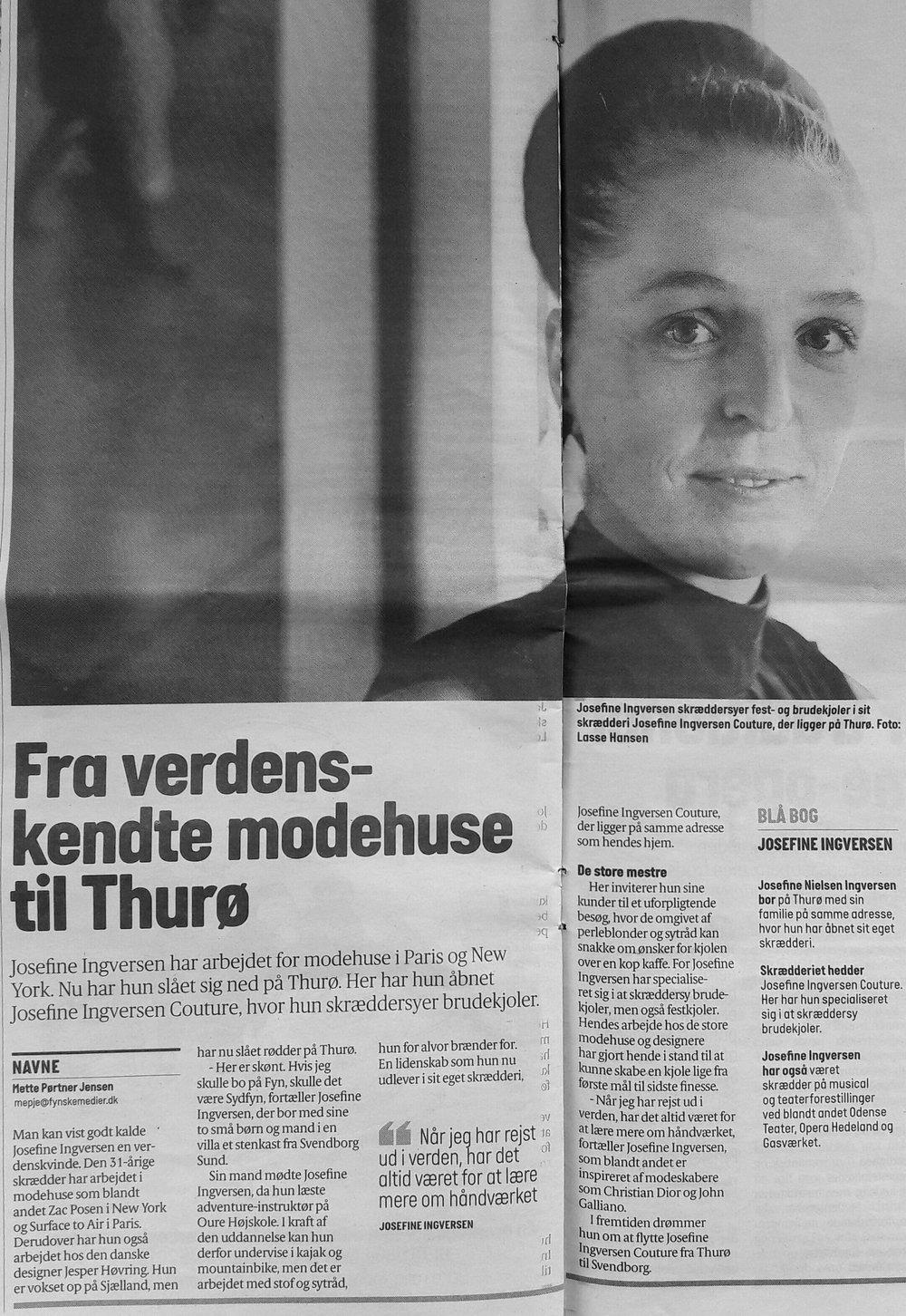 Navnlig // Fra Verdenskendte modehuse til Thurø // Fyens Stifttidende & Fyens Amts Avis // 26. februar 2017