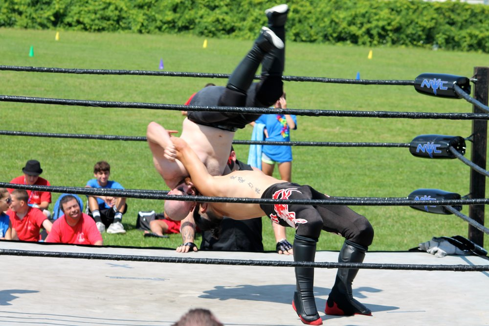 Camp A.N.C.H.O.R. Professional Wrestling Exhibition  -   Organized and provided a full interactive pro wrestling exhibition for the campers of Camp ANCHOR including a professional ring and 15 wrestlers with The New York Wrestling Connection.