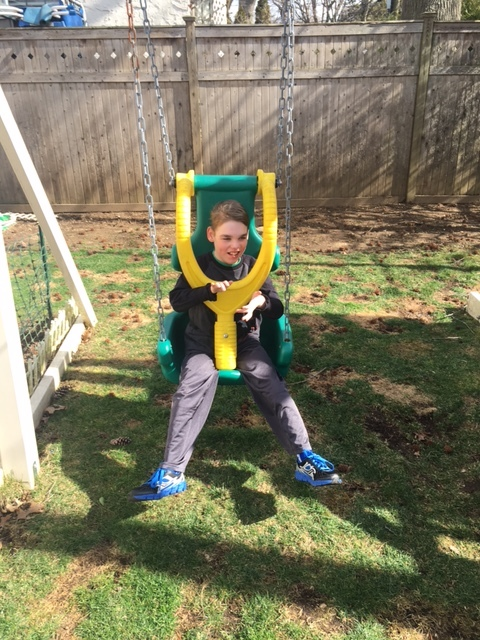 Daniel Cooke  - Daniel is a Rockville Centre child with multiple disabilities.  A special needs swing set was purchased with the money donated to this family.