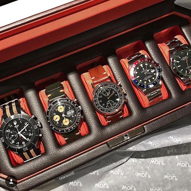 Watch holders...5 watches in all...watch out! #wolf1834#mensgifts#watchholder#holidaymens