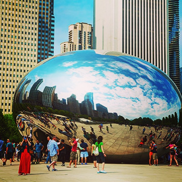 "Raquel Zike  of Indiana correctly identified  CHICAGO, IL  as the location of our 8/23 Discover AMERICA pOp uP CHALLENGE.    This is the CLOUD GATE SCULPTURE, also known as the ""BEAN"" in Chicago's Millennium Park, designed by artist Anish Kapoor."