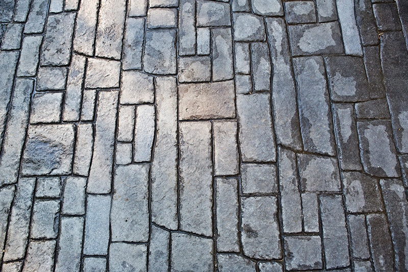 Natural Stone Pattern Stamped Concrete