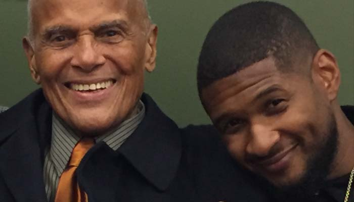 """BREAKING THE CHAINS"" OF SOCIAL INJUSTICE - Usher Raymond IV and Mr. Harry Belafonte at the 92Y in New York discussing the state of social justice activism today and the work of Sankofa.org in an event moderated by Soledad O'Brien."