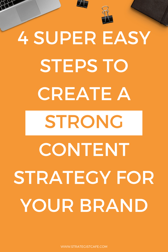 4 Super Easy Steps To Create A Strong Content Strategy For Your Brand