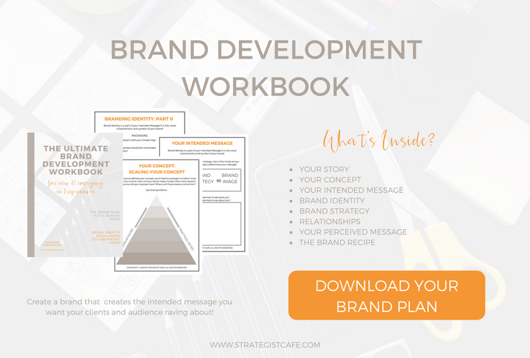 3 Reasons Why You Need A Brand Blueprint + a brand development workbook