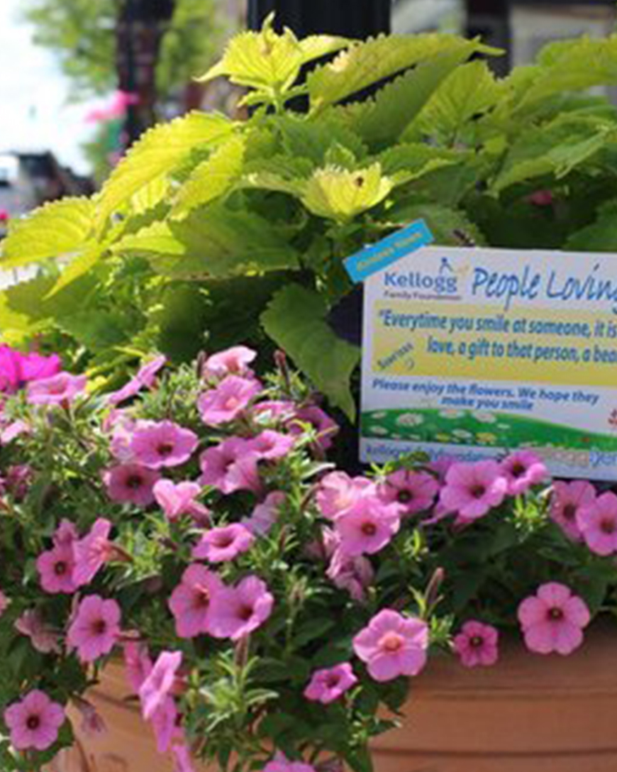 Flower Empowerment Program    The Kellogg Family Foundation's philosophy of supporting local programs and volunteerism will help further our efforts to promote and attract people to our downtown district.