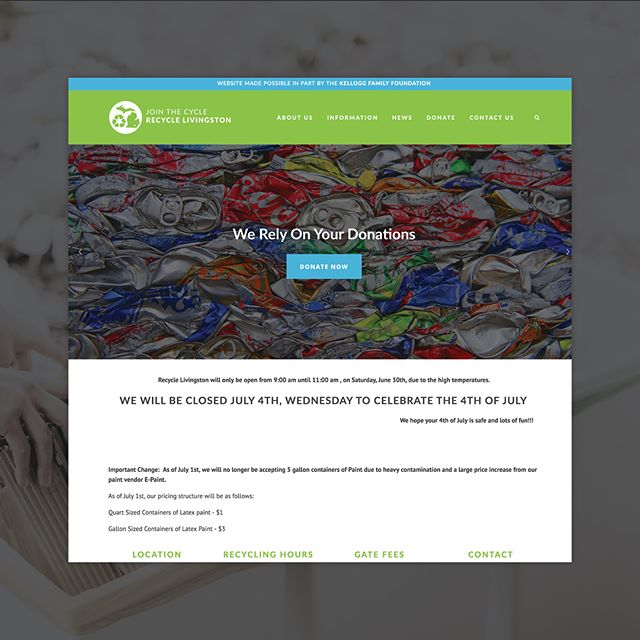 The Kellogg Family Foundation has partnered with Recycle Livingston in support of their mission to promote recycling and waste reduction in Livingston County. We were happy to help with the development of their new website. . . . #michigan #howellmi #howellmichigan #livingstoncounty #nonprofit #notforprofit #helpingothers #caringforothers #communityservice #communityproject #communityfirst #getinvolved #bethechange #bringinghope #changemakers #dogood #choosekind #giveback #speaklove #inspire #inspiration #behappy #happiness #recycle #savetheearth #sustainability #sustainableliving #nowaste #greenliving #websitelaunch