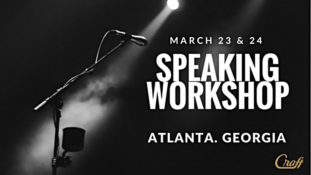 Speaking Workshop Poster