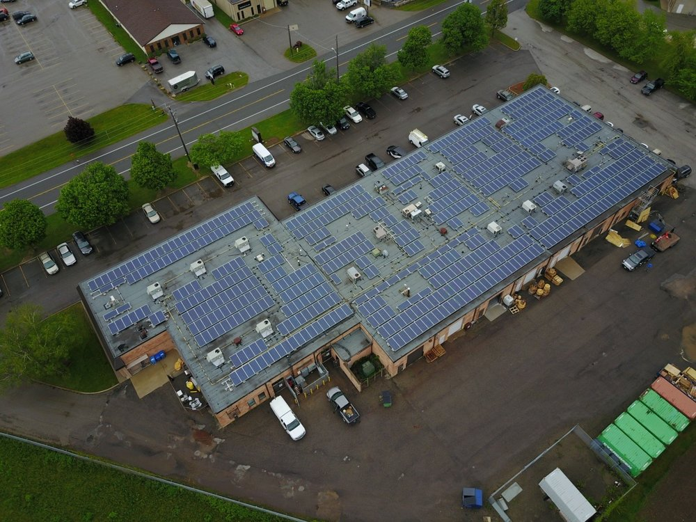 Client: Moose Power    System size: 225kw AC, Sungrow Inverters, HB Racking Blockmount    Construction time: 3 weeks