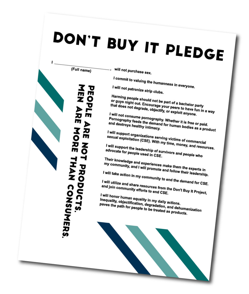 Download a Copy  of the Pledge. This version can be printed and distributed at meetings and events.