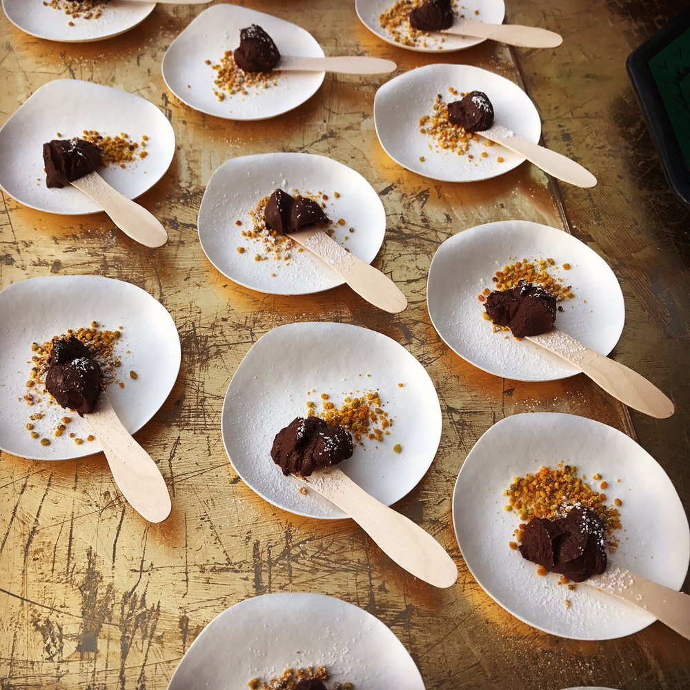 Goat Milk Mole Ganache with Colorado Bee Pollen
