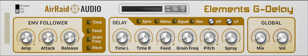 G-Delay is a fresh take on the grain delay concept, and features dynamic modulation, pitch-shifting and reversing.