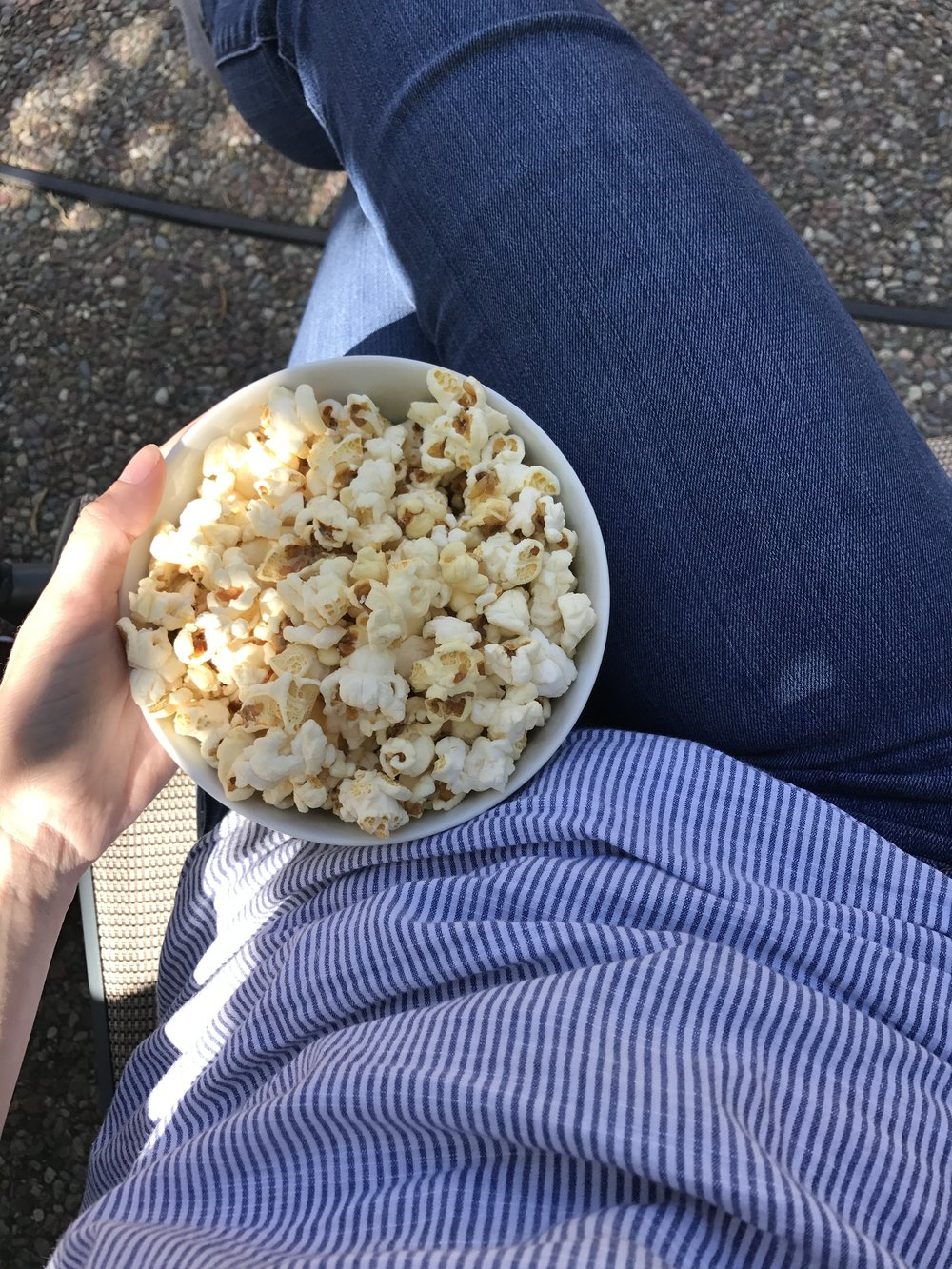 Enjoyed some 'Book Chica Pop' Popcorn pool side on Saturday! I may or may not have devoured the bowl.
