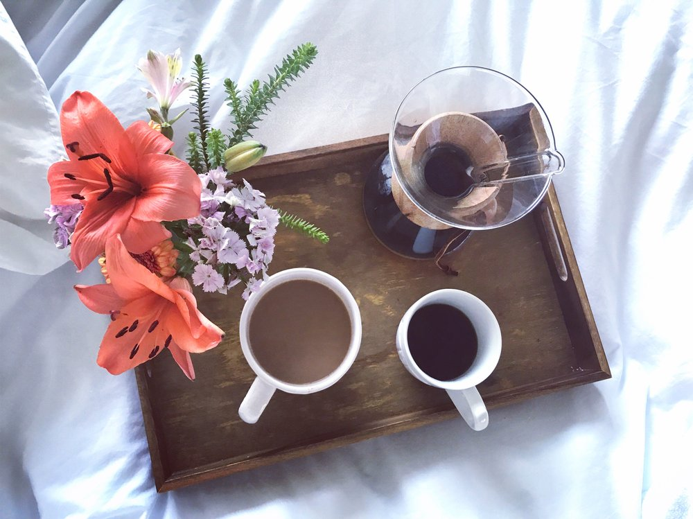 Loved this quiet coffee moment in bed Saturday morning!