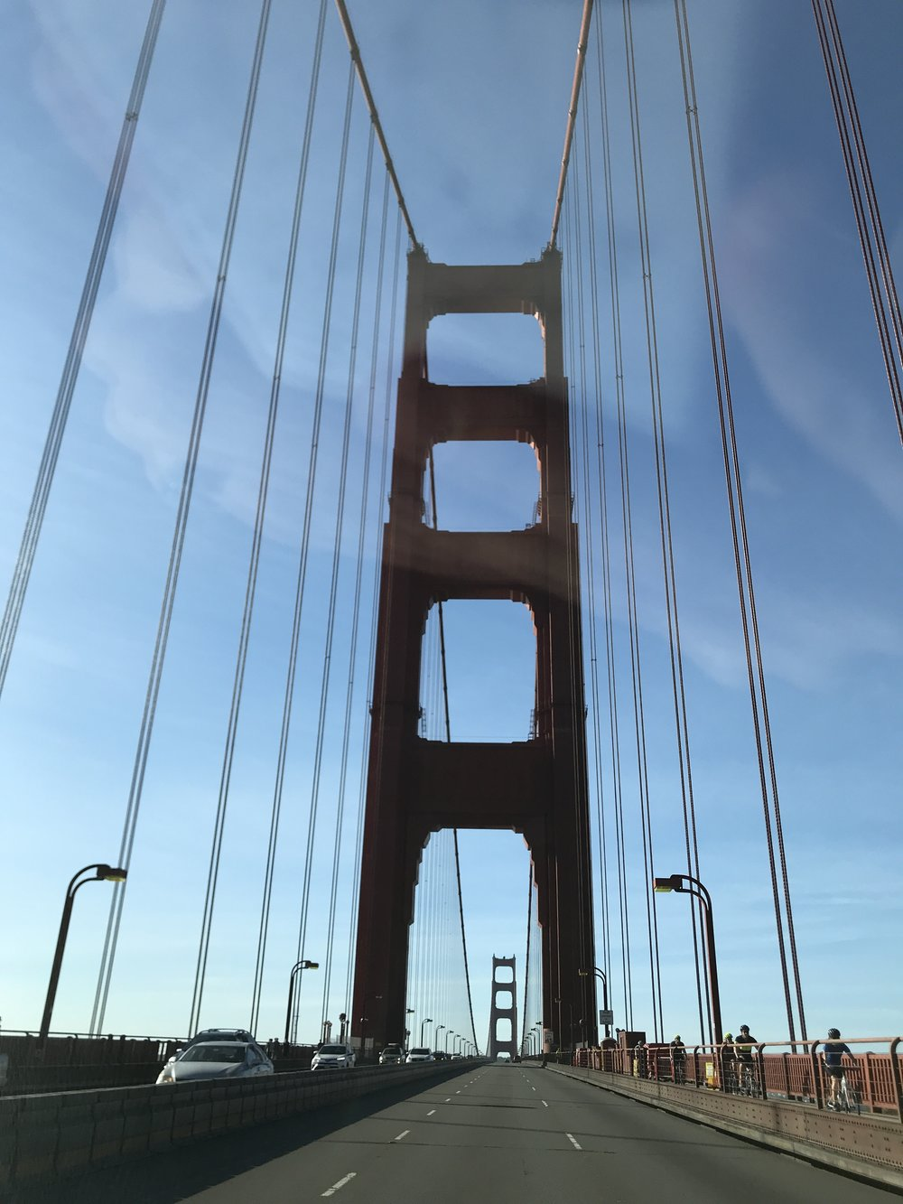 One of the best parts of living close to San Francisco is the drive over the bridge on a beautiful clear day!