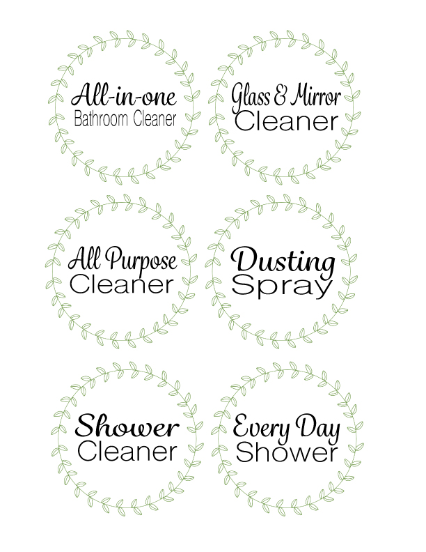 Cleaning labels printable