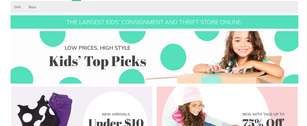 ThredUP kids clothing