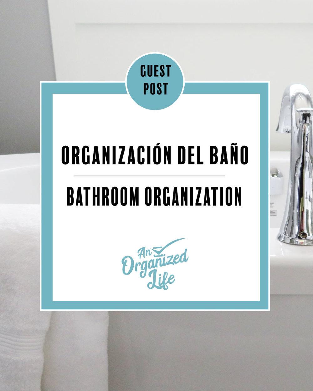 Organización del baño