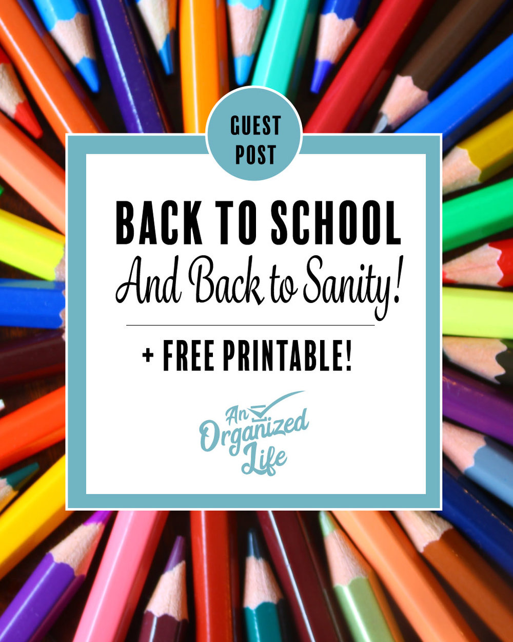 Back to school: An Organized Life Guest Post!