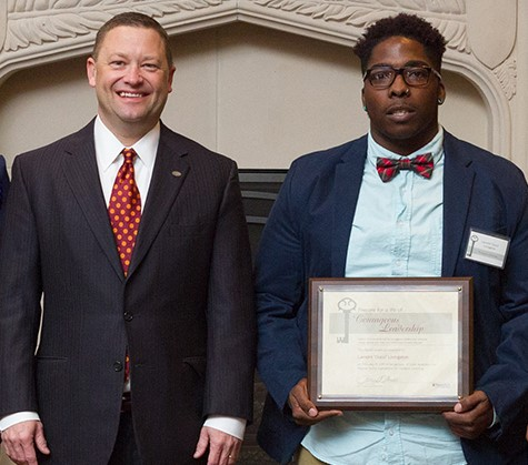 """Lamont """"Gucci"""" Livingston is the recipient of the Virginia Tech Division of Student Affairs COURAGEOUS LEADERSHIP AWARD. Ream more about his story here"""