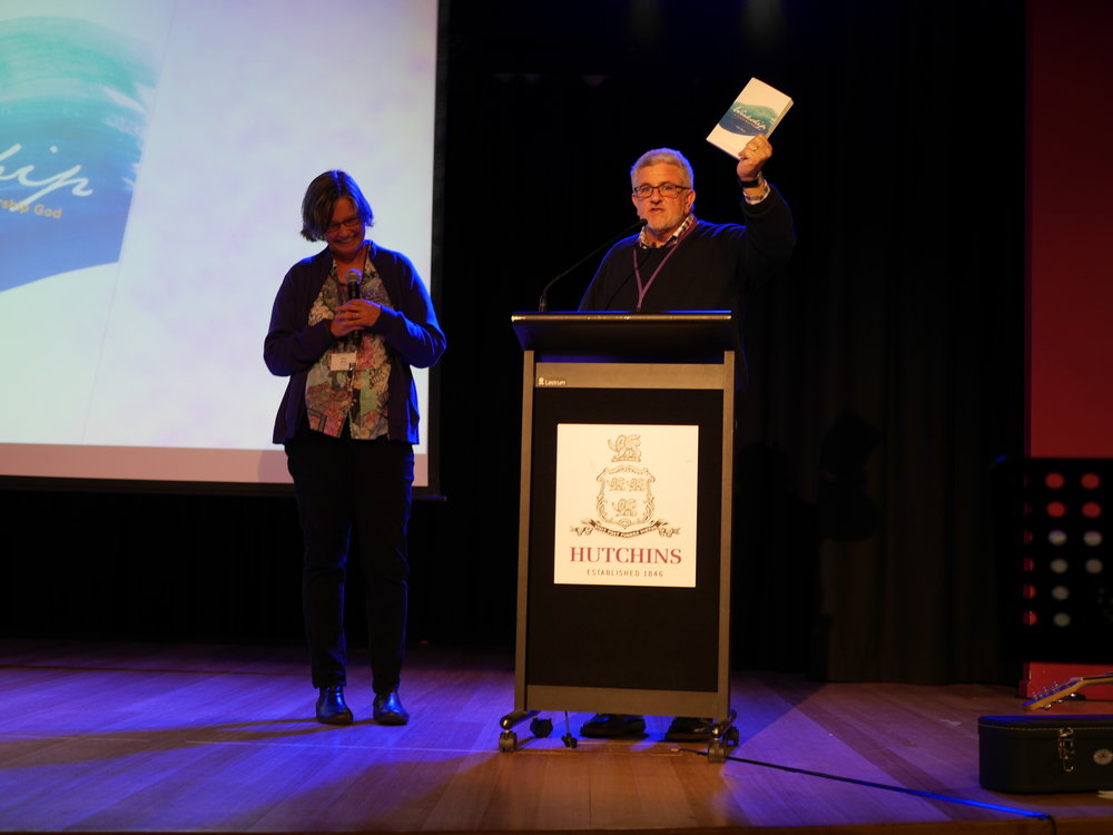Bishop Richard launching Workship at the Flourishing Training Event in Hobart. Photo credit: Sonya de Lacey