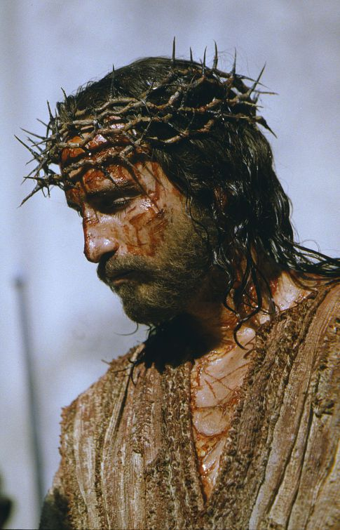 Actor Jim Caviezel from Mel Gibson's  The Passion of the Christ .