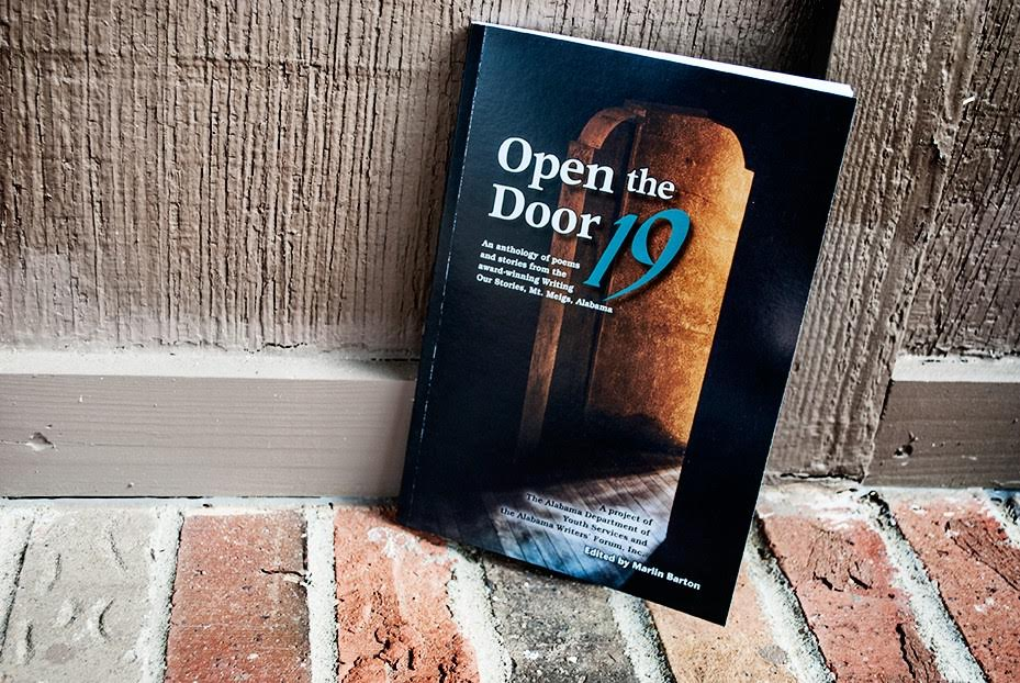 Jeanie was the guest speaker at the launch of  Open the Door 19 , the anthology of Writing Our Stories work by students at the Mt. Meigs campus of the Alabama Department of Youth Services.