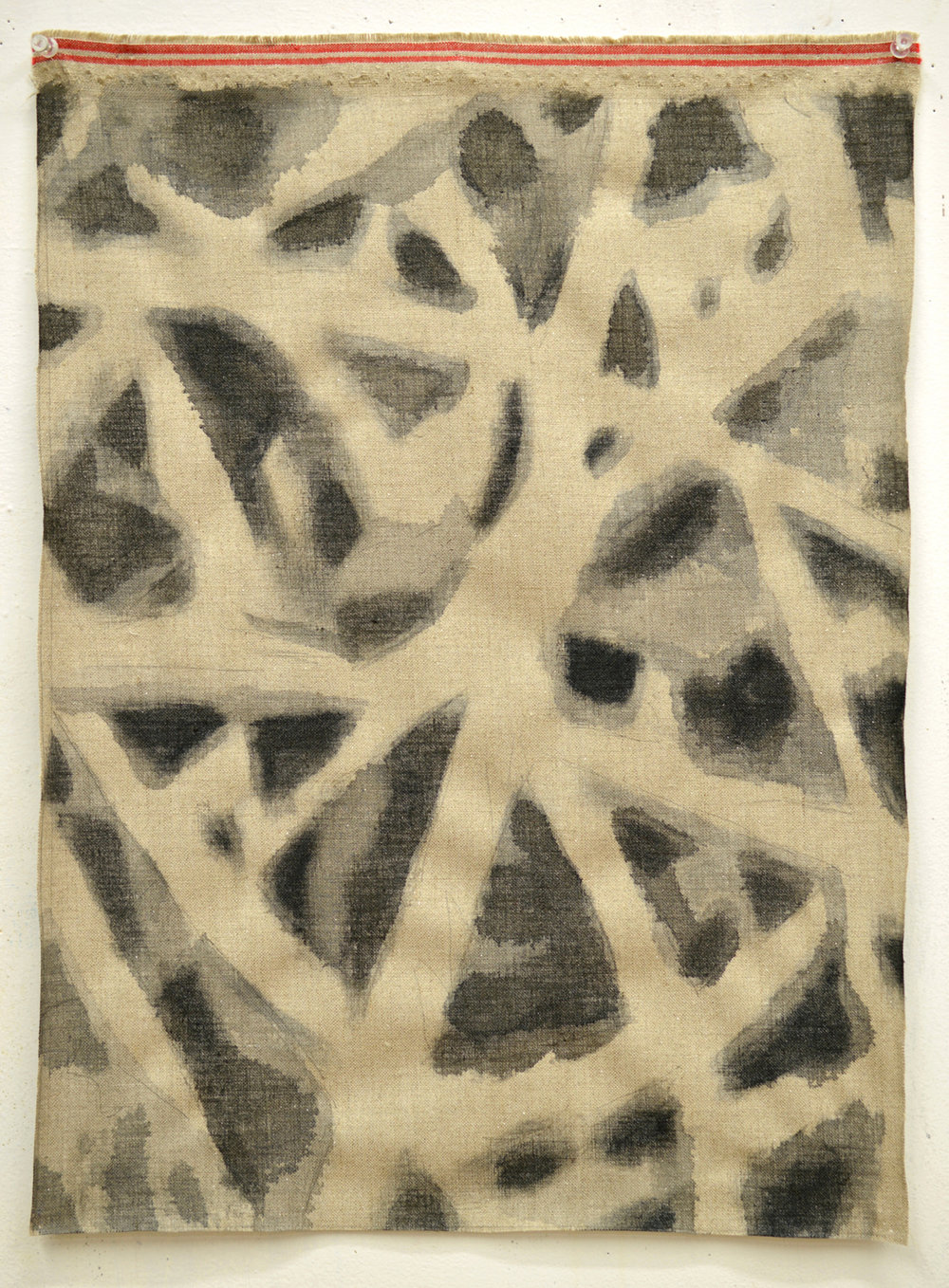 Coordinates Warped Unstretched   2016 oil on unstretched linen 22.5 x 16.5 inches