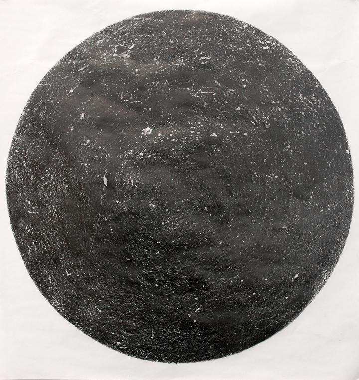 hole 2016 graphite, archival bond paper 36 x 33.75 inches
