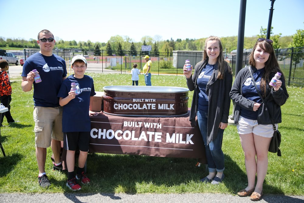 "The Horning Family was honored as the ""Featured Farmer"" at the Michigan Milk Cup kickoff on May 14th"