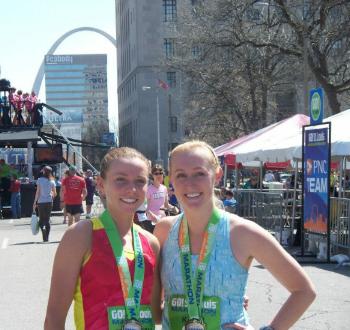 The St. Louis Marathon during my internship at SLU