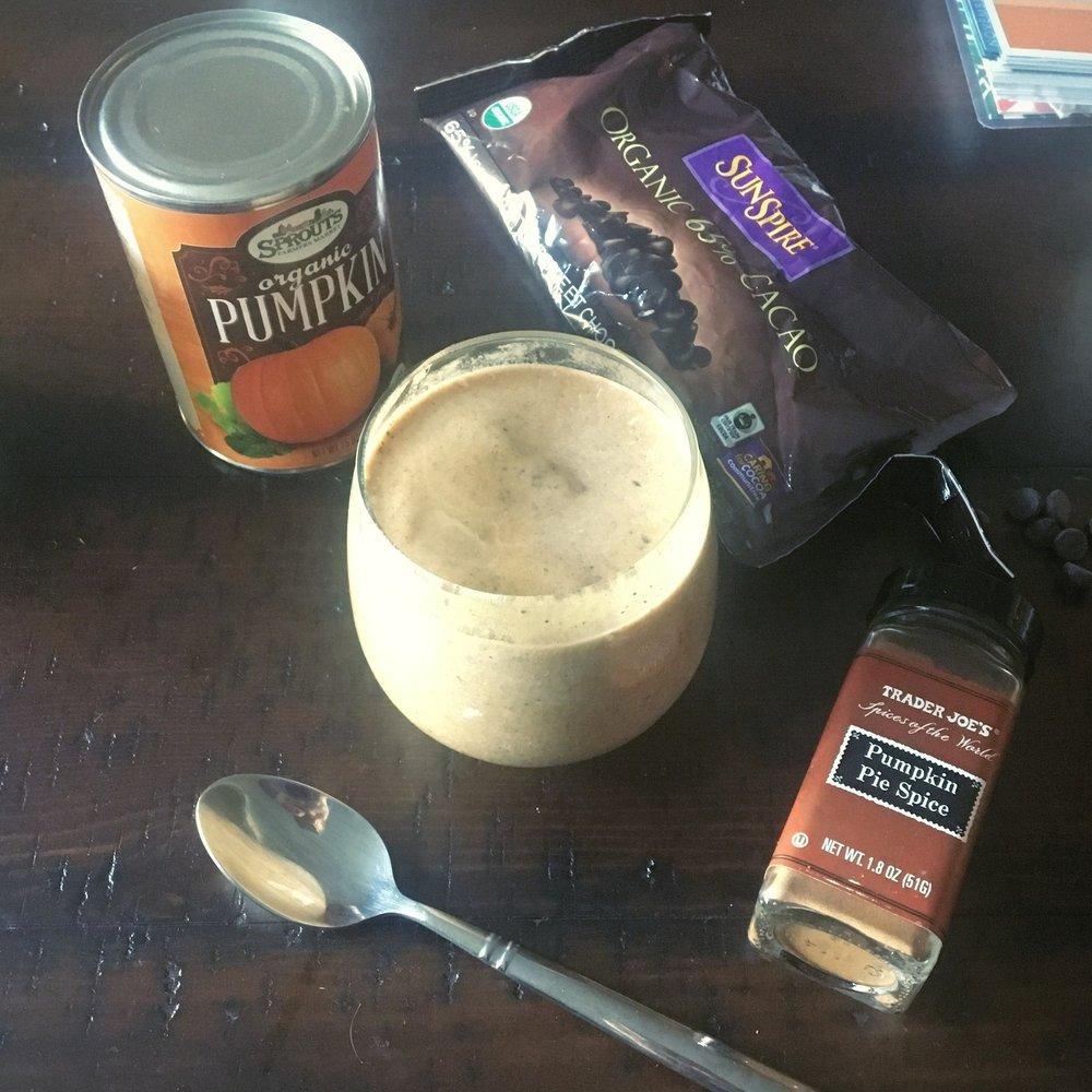 chocolate protein pumpkin smoothie