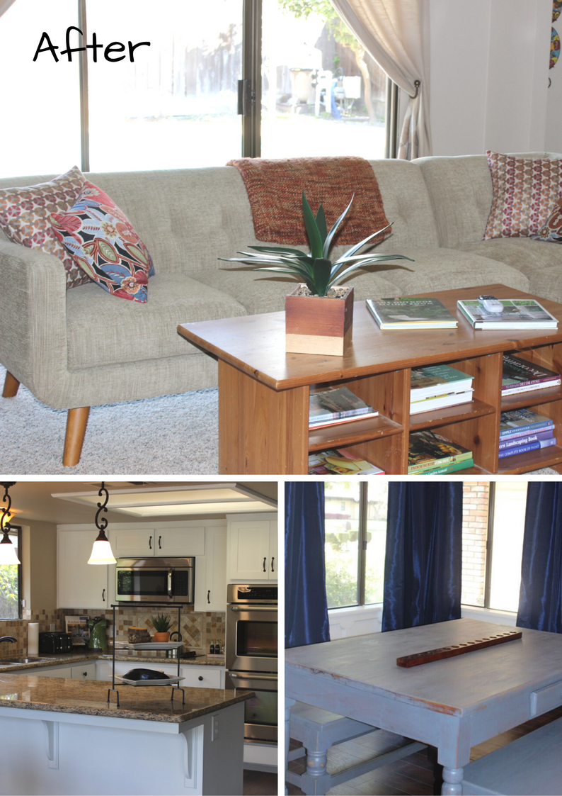 The After Photos of The Sierra Lodge. A vacation home in Fresno California. Designed by Dina Marie Joy.