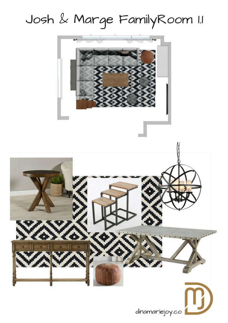My San Ramon Client's Greatroom designed by Dina Marie Joy.