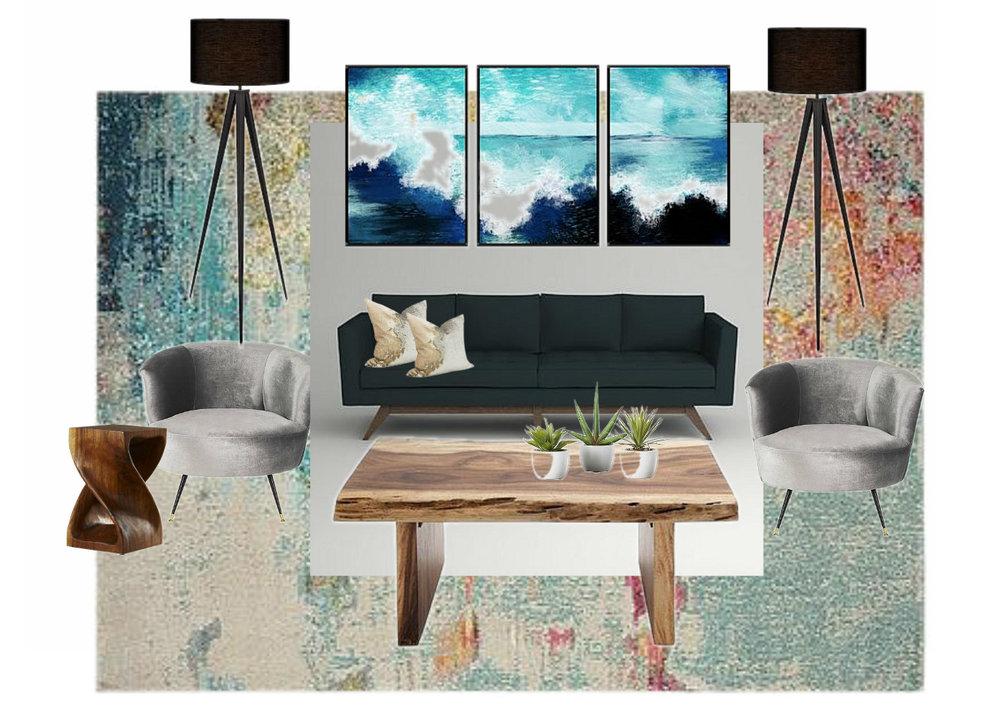 Living Room Design For A Cancer Zodiac Sign Client