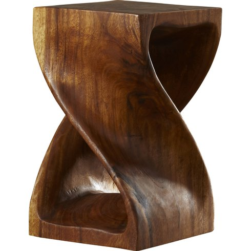 Twist Wood for an End Table or Plant Stand