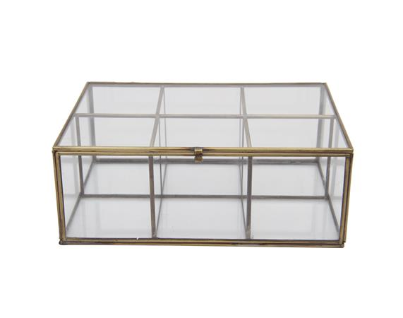 Glass and Brass Box