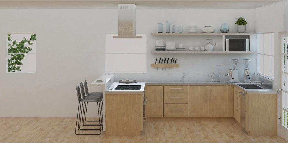 Kitchen Remodel in San Jose California designed by Dina Marie Joy Designs at www.dinamariejoydesigns.com