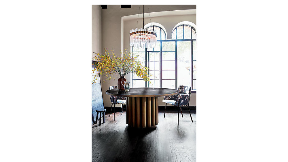 Modern Dining Room. Table from CB2. www.dinamariejoy.co