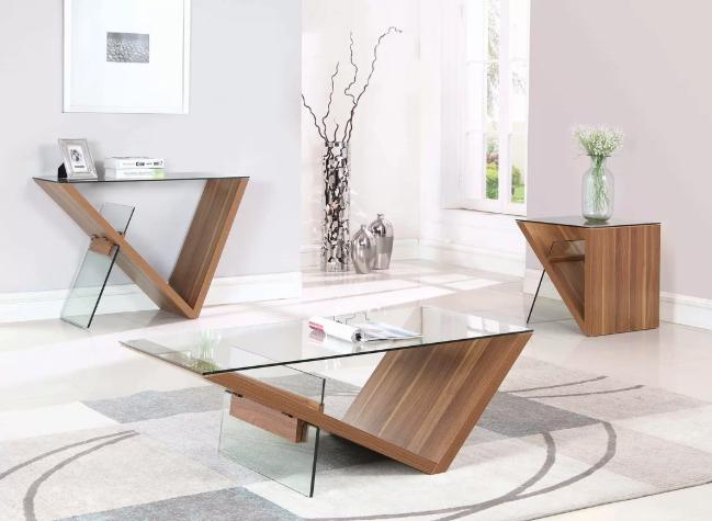 Wayfair Wednesday. Modern Glass console table I love. www.dinamariejoy.co