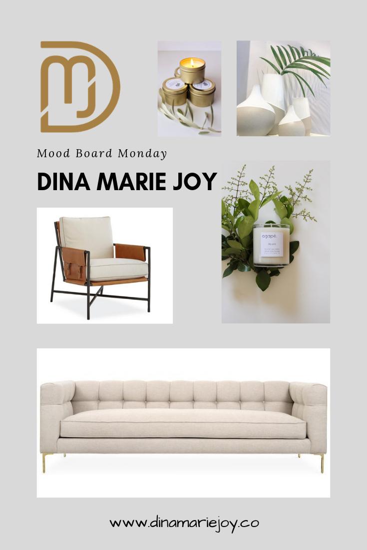 Mood Board Monday by Dina Marie Joy. Dina Marie Joy is a Vacation Home Expert. www.dinamariejoy.co