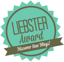 Proud recipient of the Liebster Award for bloggers.